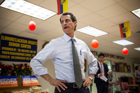 """What are you going to do about it, grandpa?"" — Candidate for NYC mayor Anthony Weiner to his 69-year-old opponent George McDonald at an AARP-Univision forum, according to the New York Post. McDonald reportedly told Weiner, 48, to not touch him again after they exchanged greetings. Read more: http://swampland.time.com/2013/08/06/anthony-weiner-calls-opponent-grandpa-at-aarp-event/#ixzz2bNyBkg69"